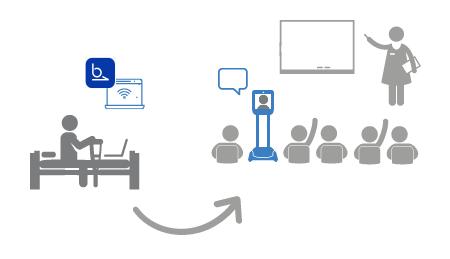 Robot de téléprésence pour suivre les cours à distance